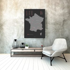 Wine map of France - redwine