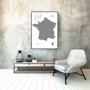 White wine map of France